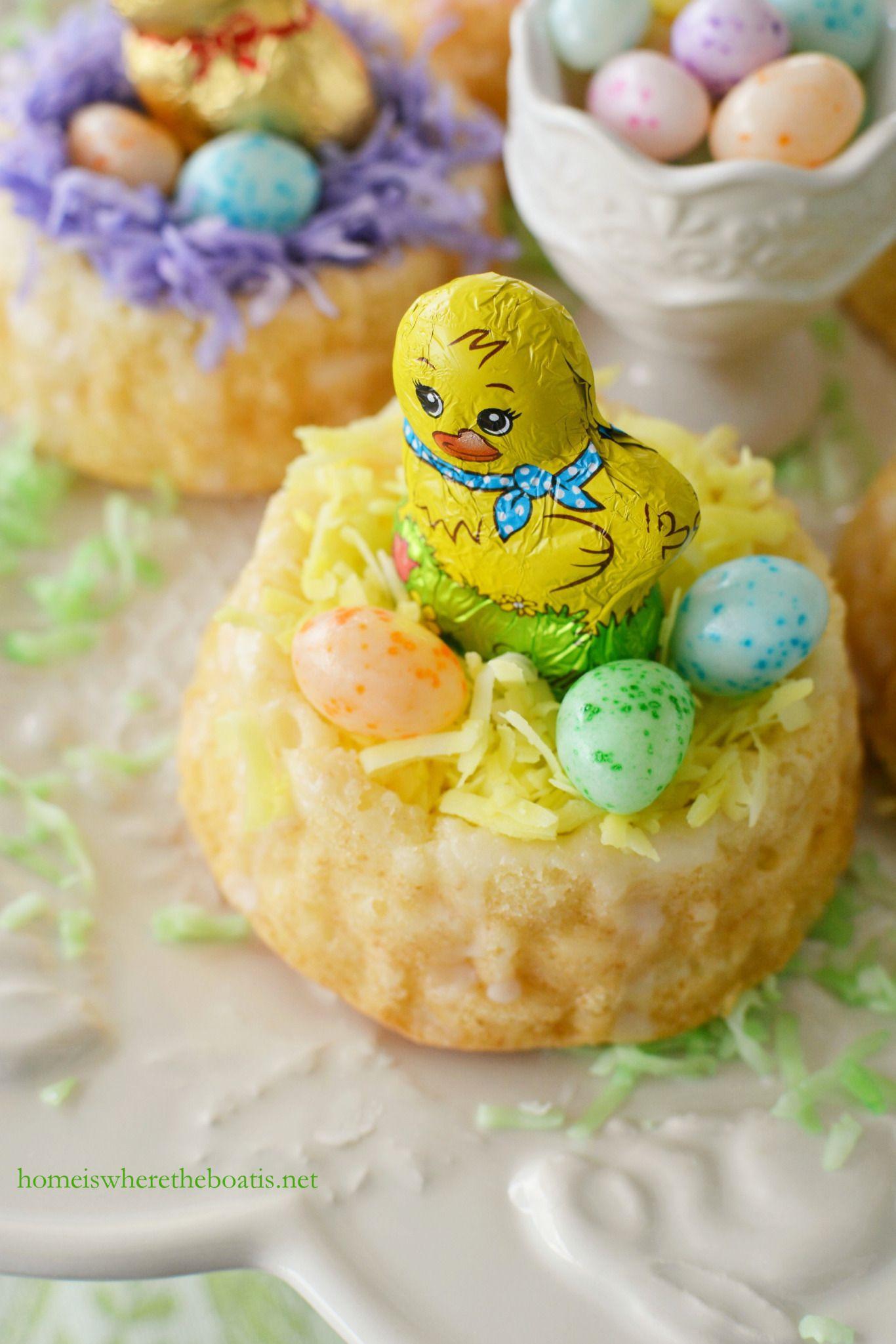 Mini easter basket cakes easter basket cake mini easter