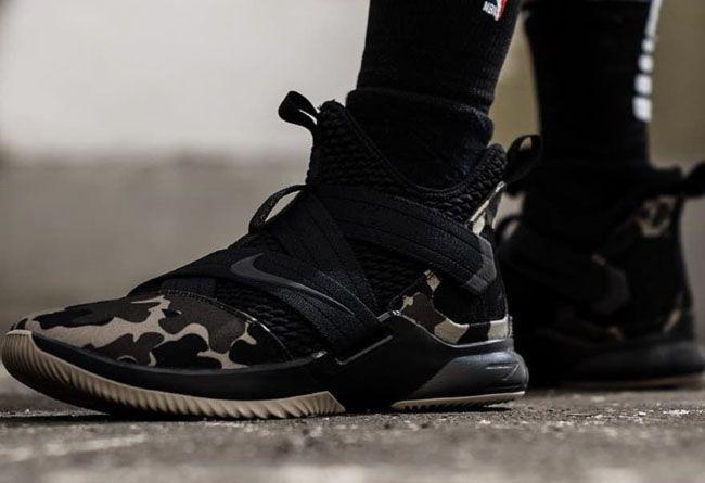 Nike Lebron Soldier SFG 12 XII Noir Camo nike in 2018 Pinterest