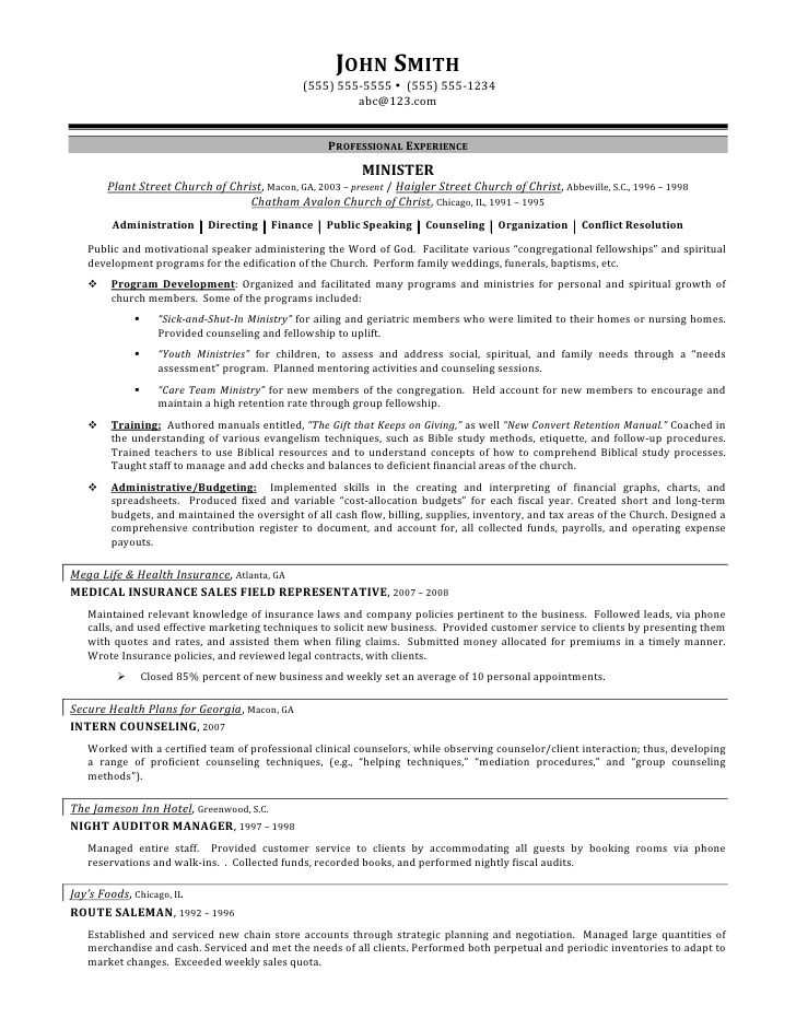 sample healthcare manager resume