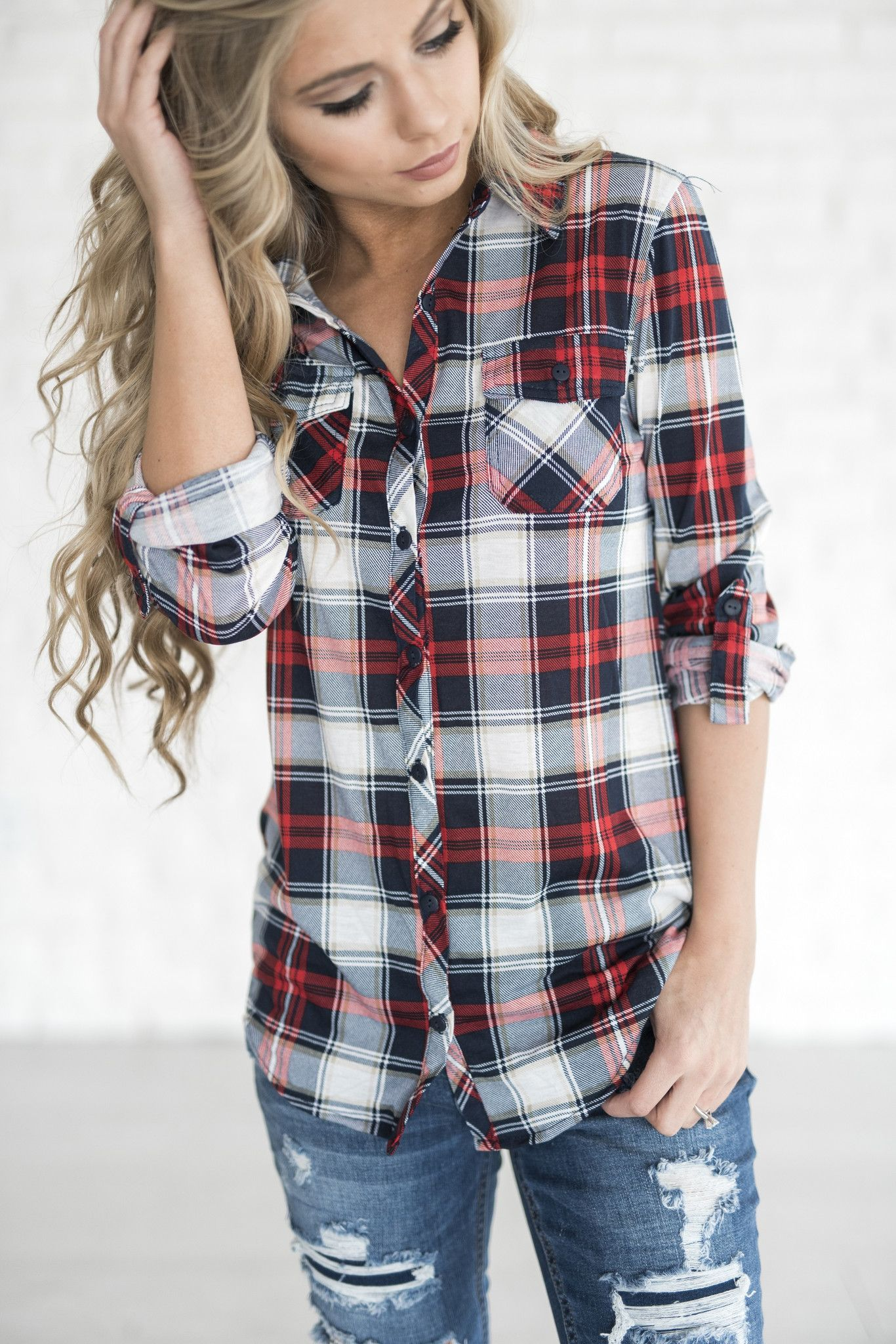 Red flannel and jeans  Taylor Plaid  Fashion and girl stuff  Pinterest  Plaid Denim and