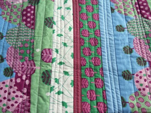 'quilt as you go' strip quilt tutorial