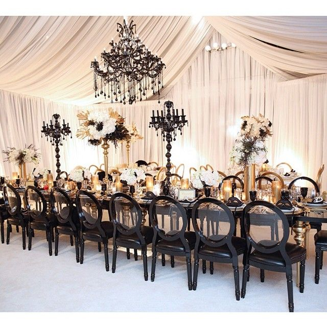 Nigerian Wedding A Great Gasby Inspired Black White Gold Decor Inspiration By Kat Mini Events Design
