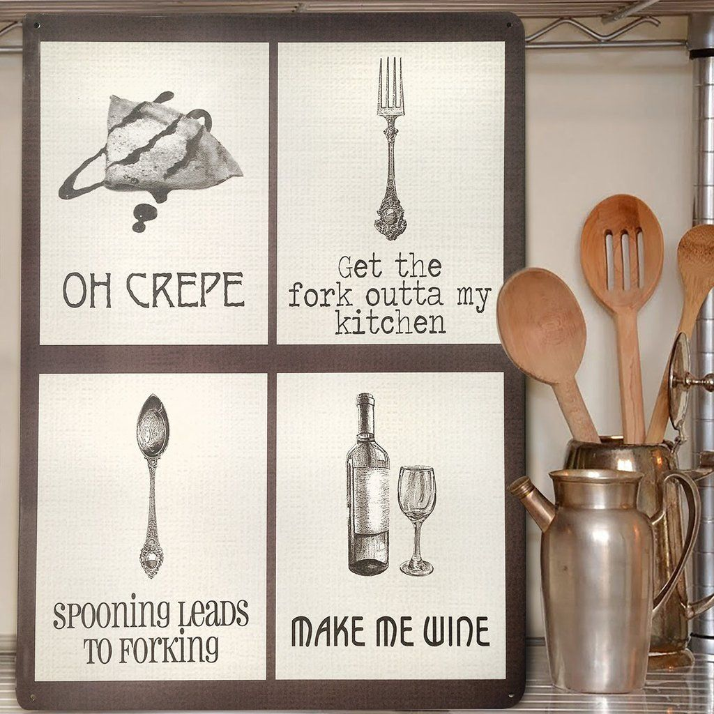 Naughty Puns Kitchen Mix Metal Sign in 2019 | Kitchen themes ...