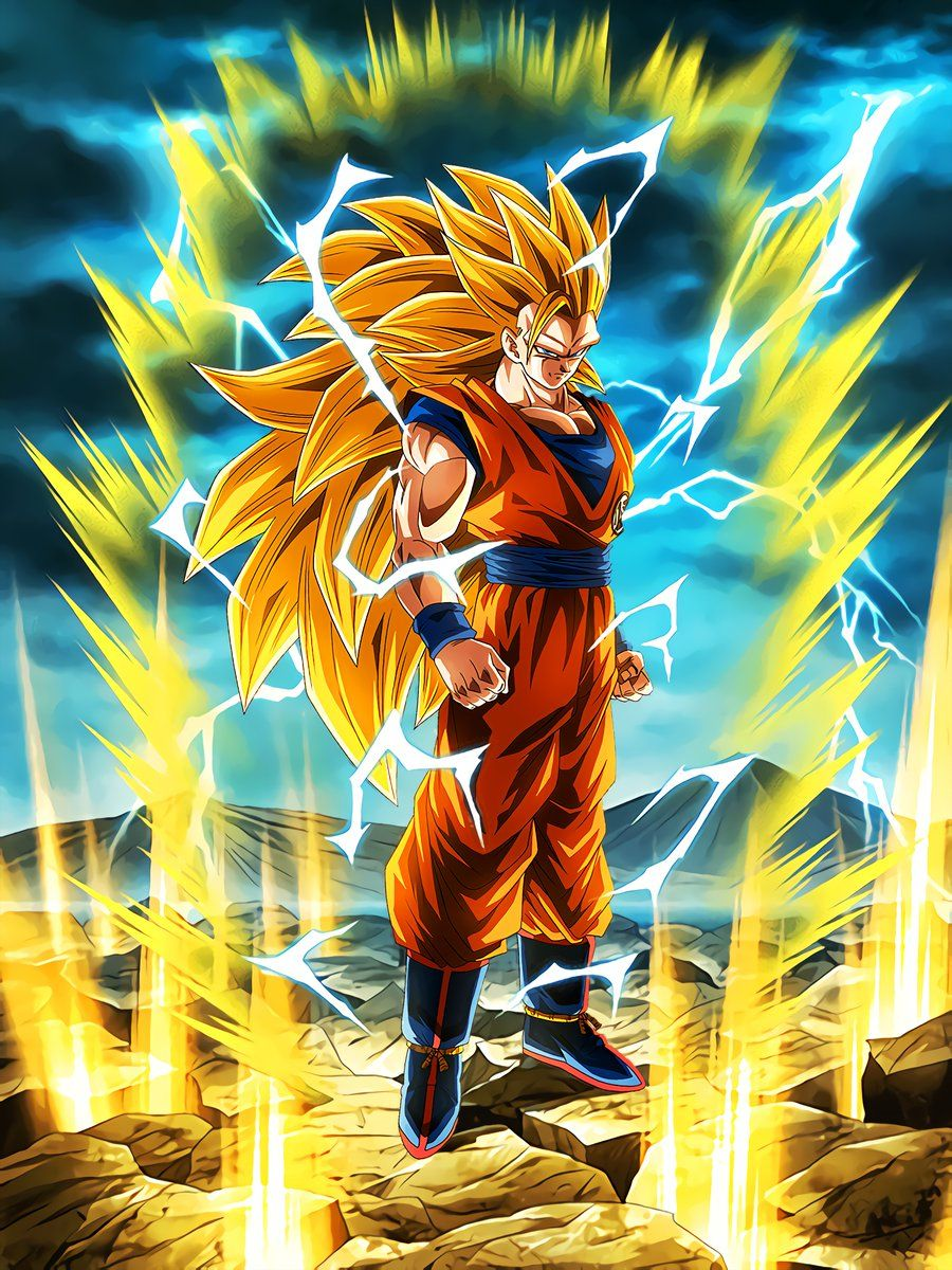 Boiling Power Super Saiyan 3 Goku This Is Super Saiyan 3 Dessin Goku Personnages De Dragon Ball Goku Ssj3