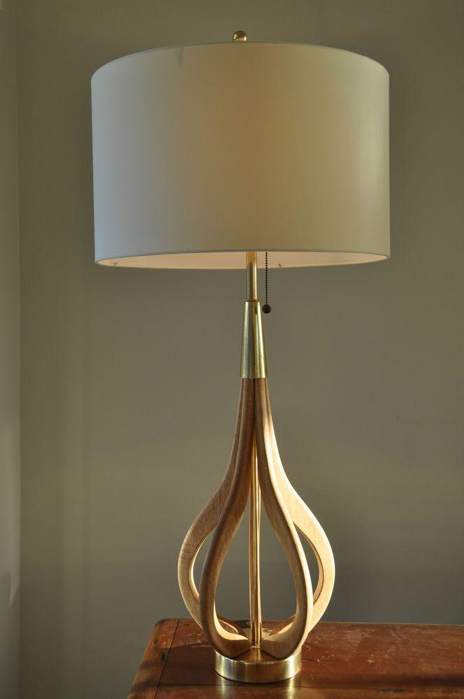 inspiring mid century hanging light bedroom | Danish Mid Century White Oak Vintage Eames 'LARJOBBE' 60's ...