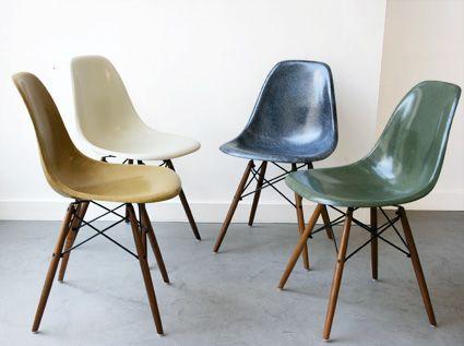 chaise coque bois vintage - recherche google | // c h a i s e s ... - Chaise Eames Fibre De Verre