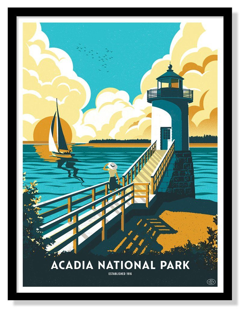 Acadia National Park Poster Fifty Nine Parks National Park Posters Acadia National Park National Parks