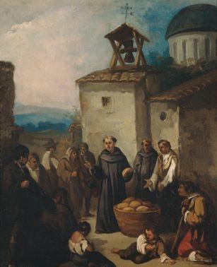 Monje Repartiendo Limosna By Johann Moritz Rugendas Johann