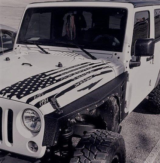 2nd Amendment American Distressed Flag Decal Back Window