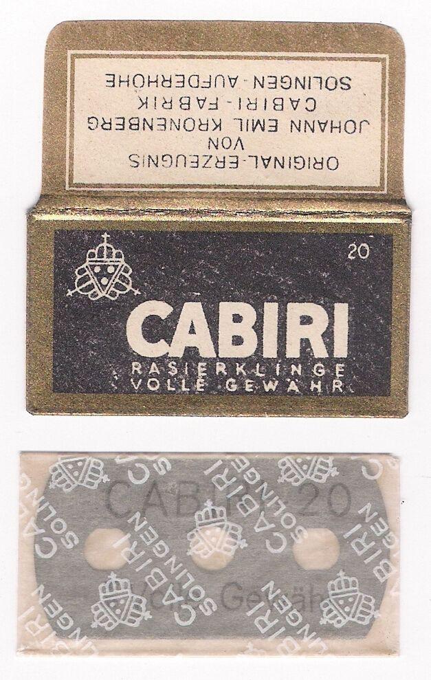 CABIRI 20 vintage SAFETY RAZOR BLADE / lametta da barba
