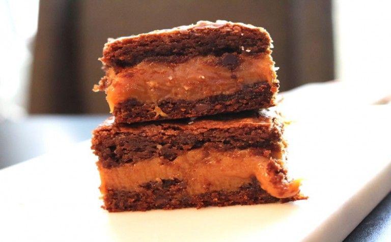 Caramel Bomb Brownies Recipe Pumpkin Recipes Caramel Brownies