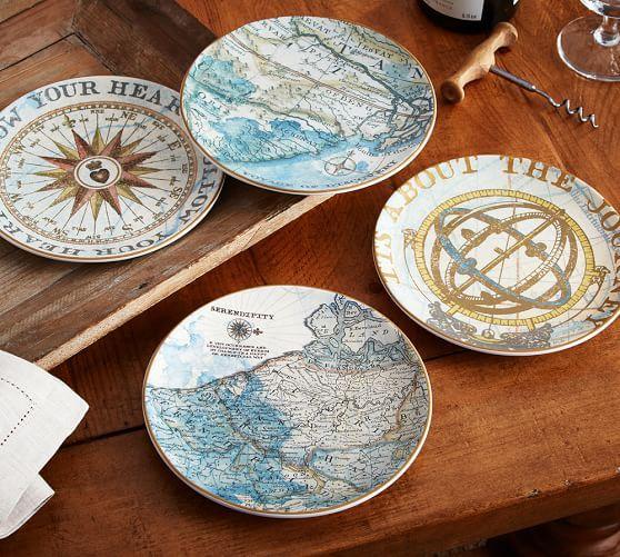 Pottery Barn Journey Side Plates A Set Of 4 NIB in Home \u0026 Garden Kitchen Dining \u0026 Bar Dinnerware \u0026 Serving Dishes Plates & Journey Salad Plates 10.25\