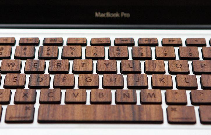 0b95b696106 Wood MacBook Pro Keyboard Keys By RAW BKNY - Tech & Accessory News -  Gadgetmac