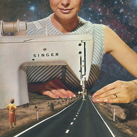 This is how a road gets made – Sewing Machine Poster by VertigoA