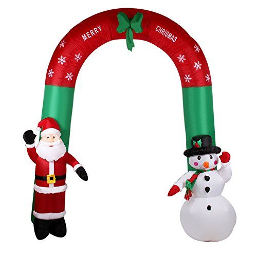 Xiaolanwelc Christmas Decor 24m79ft Inflatable Archway with Santa