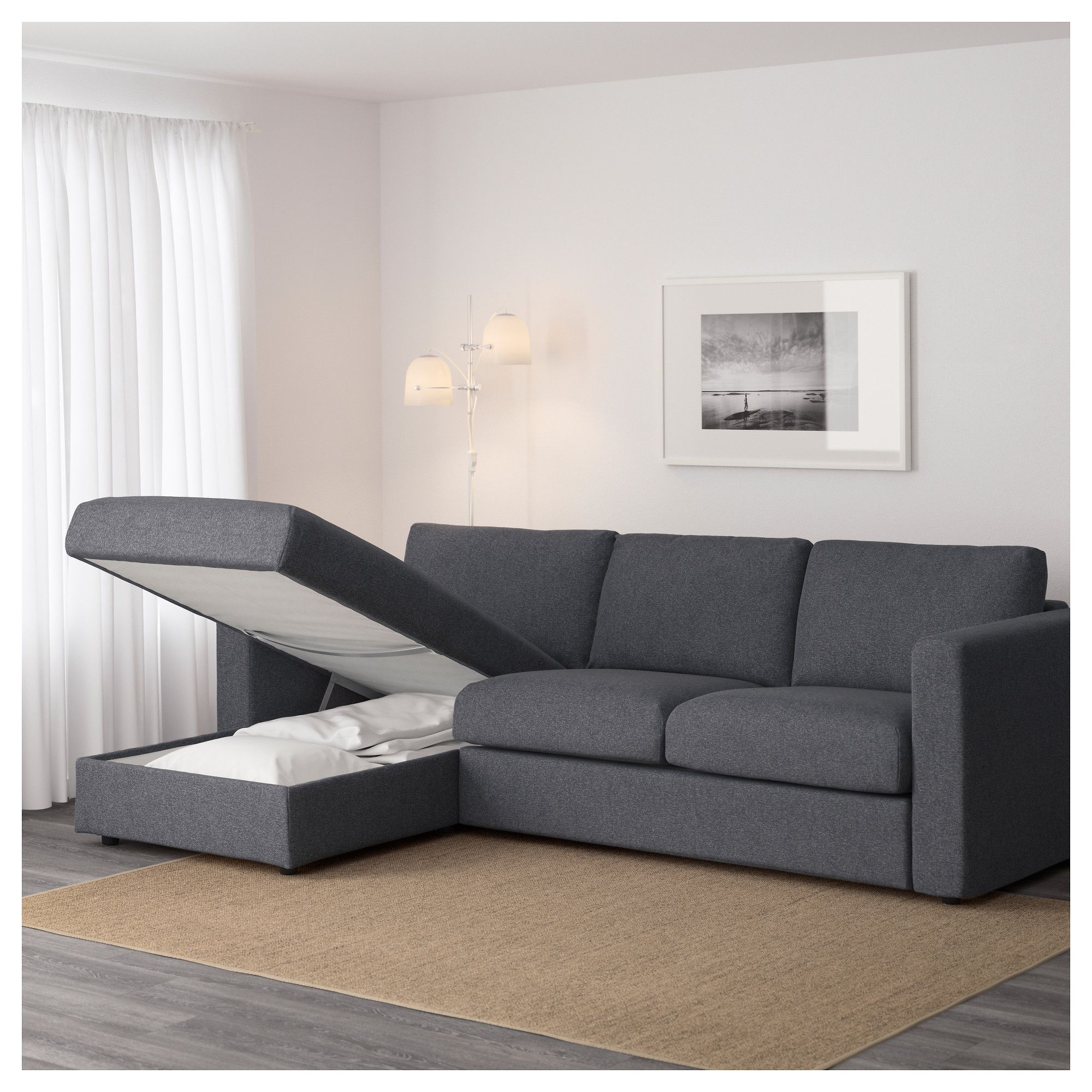 dark grey sectional sofa with chaise bunk bed philippines ikea vimle tallmyra black gray home