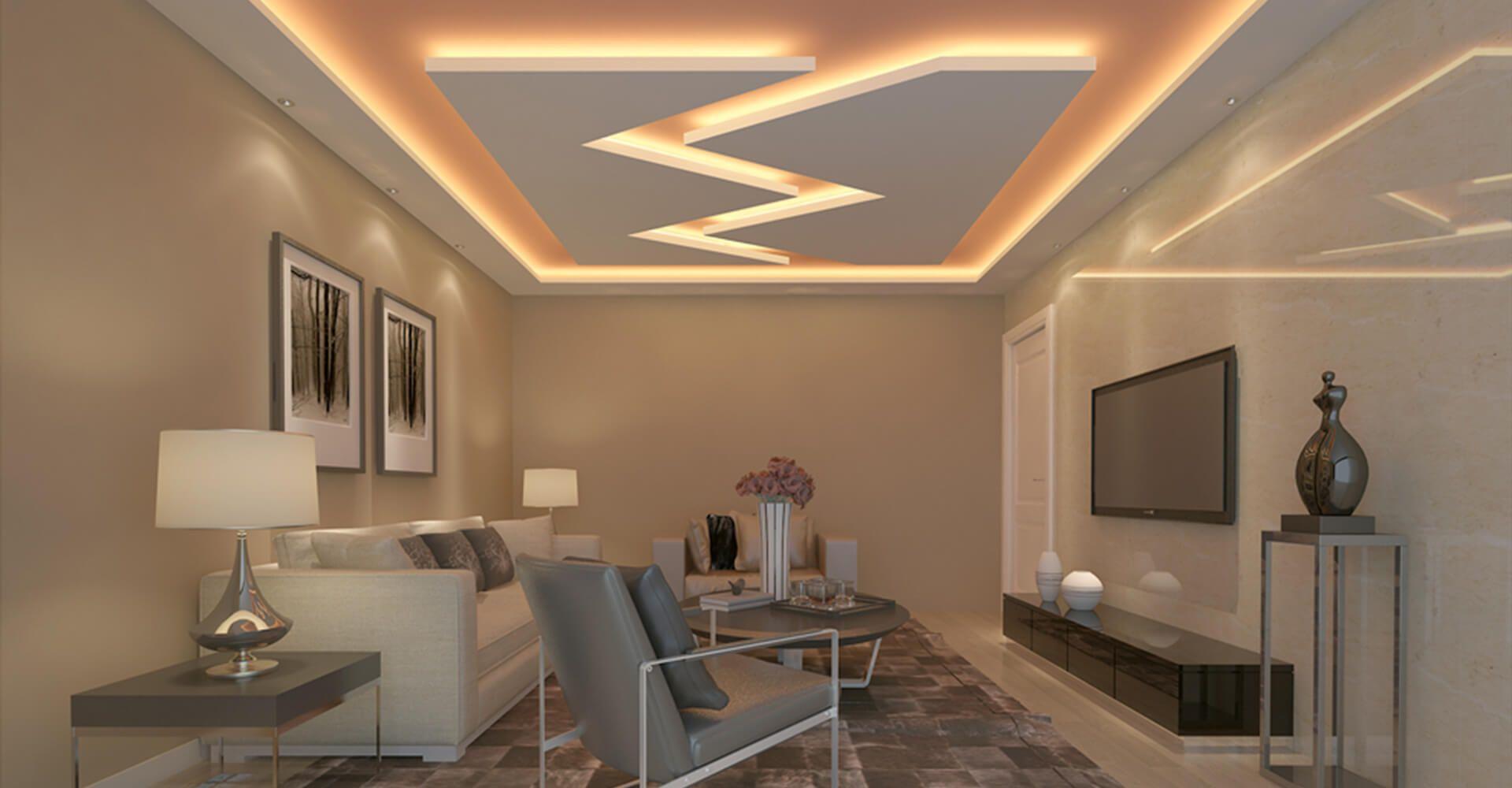 Moderne Wohnzimmer Decke Design Ideen #Badezimmer  False ceiling
