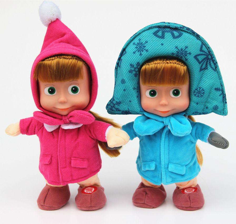 Barato Inteligente boneca bonito MashaBear masha e urso de brinquedo do bebê juguetes brinquedos crianças bonecas, Compro Qualidade Bonecas diretamente de fornecedores da China:     Aviso: não pode andar, não pode dançar, sem       Musical Masha