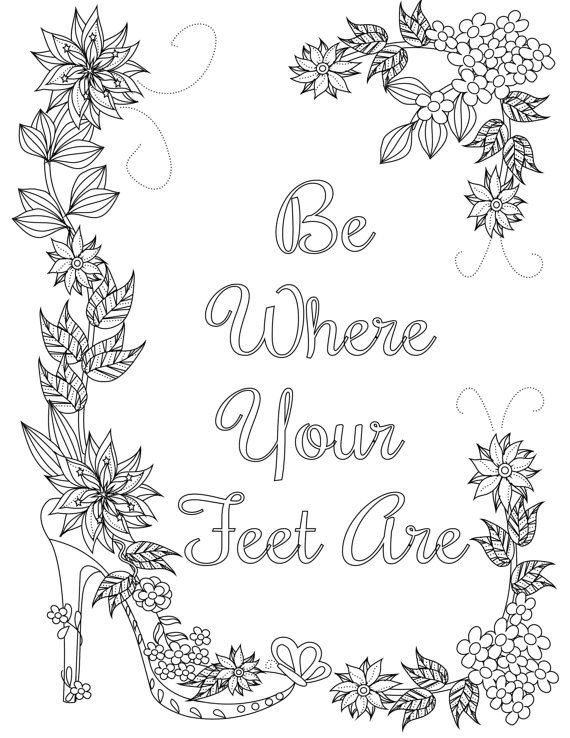 coloring inspirational quotes be where your are the