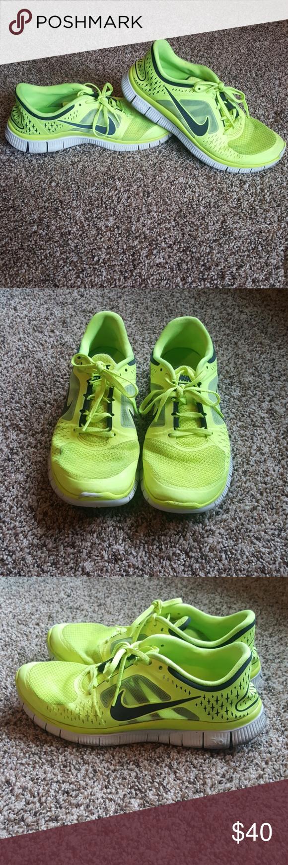 Men's Nike Free Run 3 Neon running shoe Men's size 11 Nike