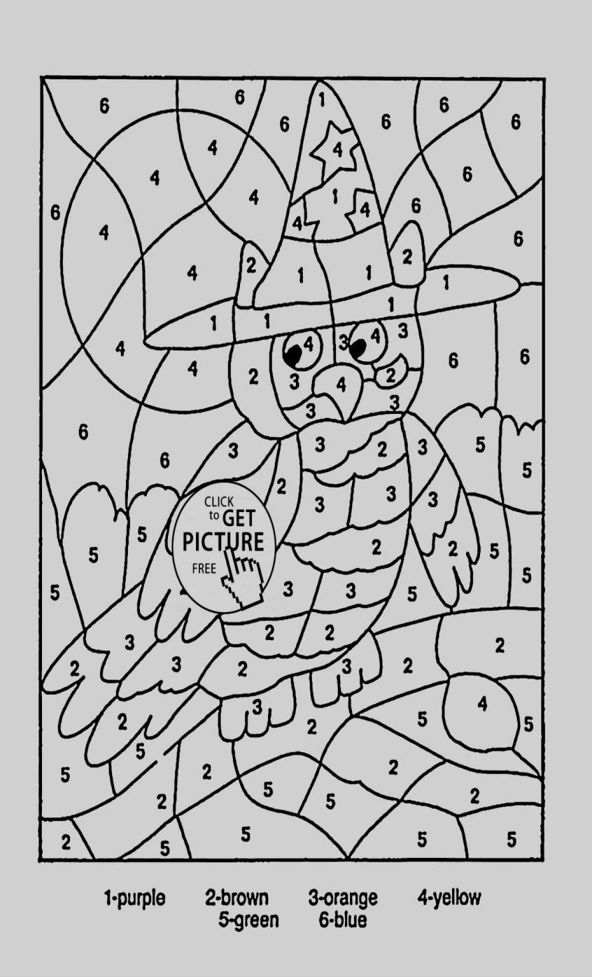 Halloween Themed Coloring Pages Luxury Collection Halloween Coloring Pages Color By Number Owl Coloring Pages Color By Number Printable Halloween Coloring