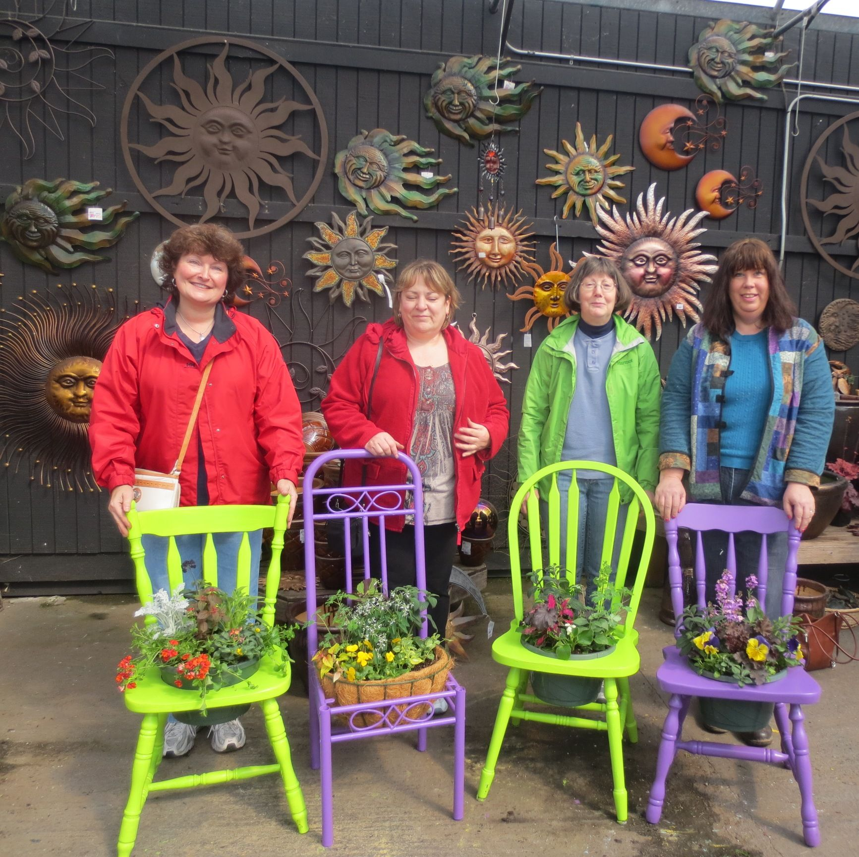 Bright painted chairs and bright students! FUN Workshop at ...