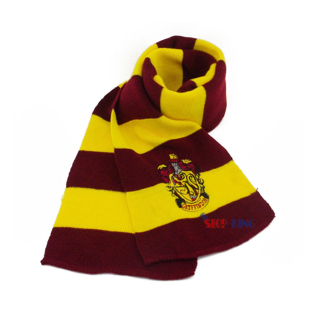 Harry Potter Gryffindor College Neck Scarf Cosplay Coustum Christmas Gift BID