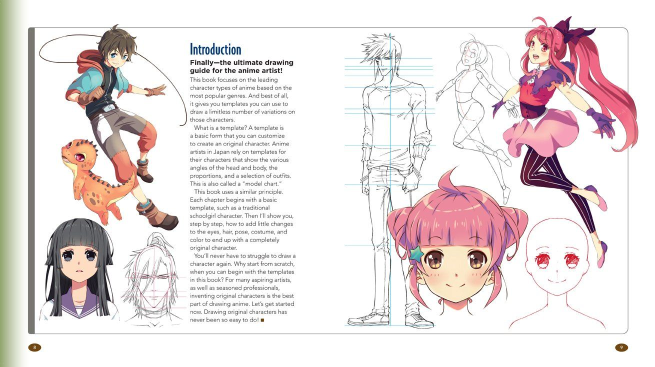 The Master Guide To Drawing Anime How To Draw Original Characters From Simple Templates Paperback July 7 2015 Anime Draw Orig Anime Drawings Character
