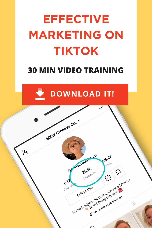Tiktok For Business Video Training Mkw Creative Co Business Video Social Media Marketing Social Media Advice