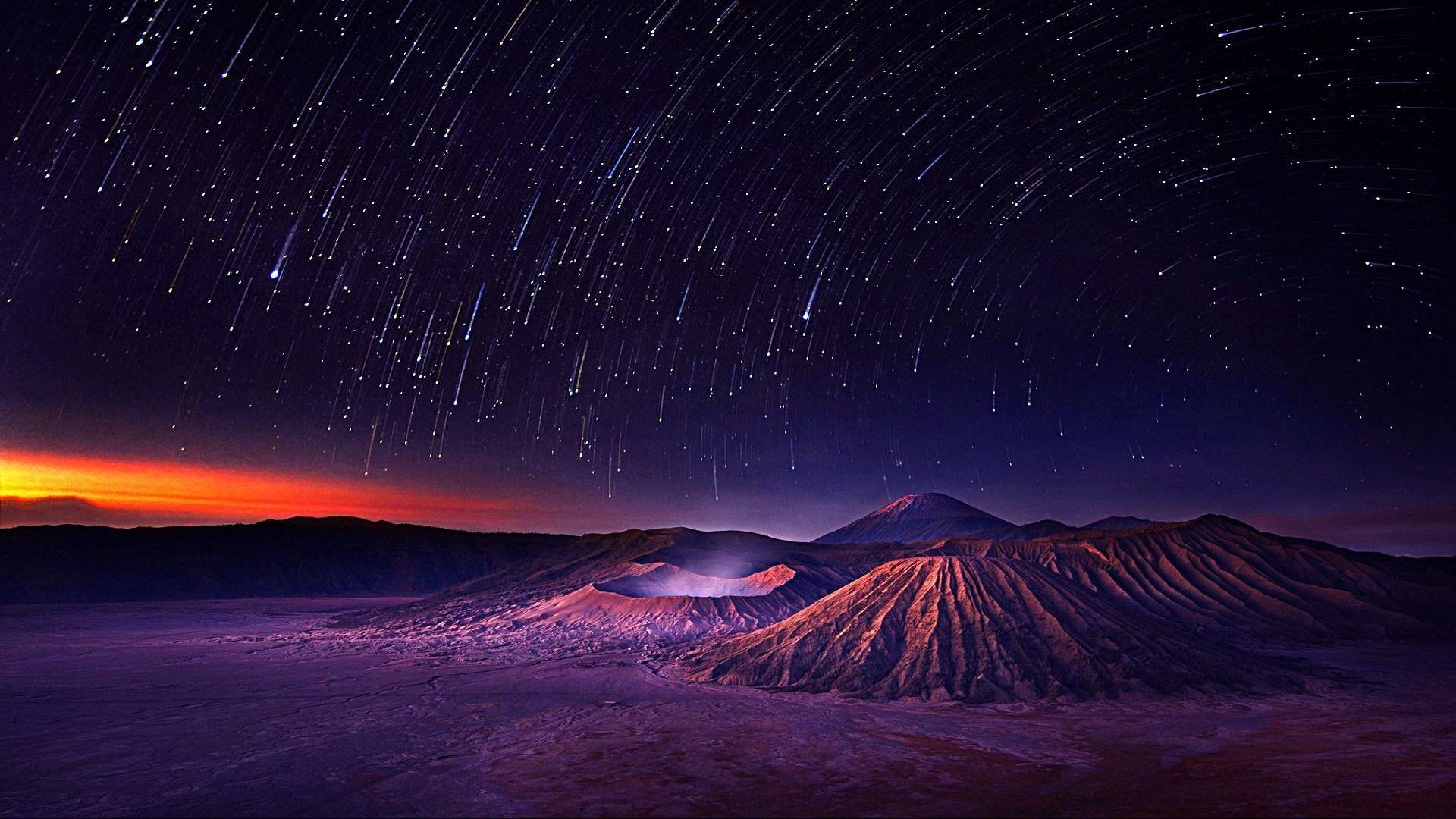 Night Starry Night Night Sky Starry Sky Landscape Darkness Star Trails Falling Star Space Sky Star Earth H Night Skies Starry Night Sky Star Background