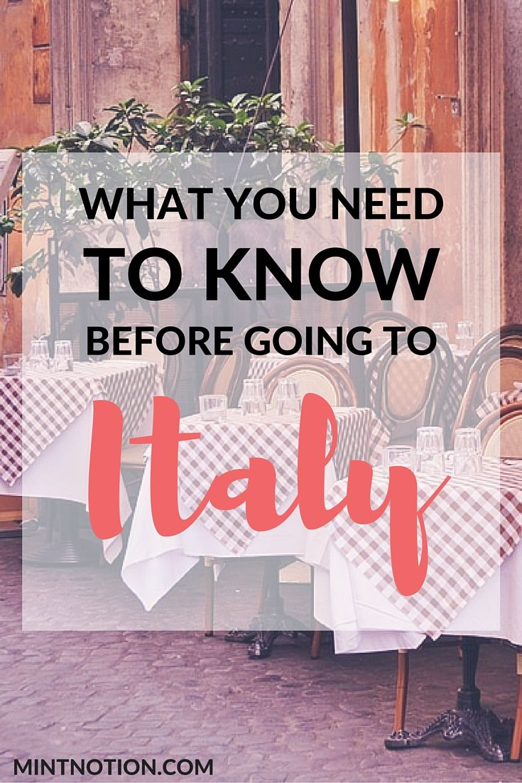 Before embarking on your first trip to Italy, doing a little bit of research about the country's customs and etiquette may be to your advantage. Click here to find out the most helpful things I learned during my visit to Italy!
