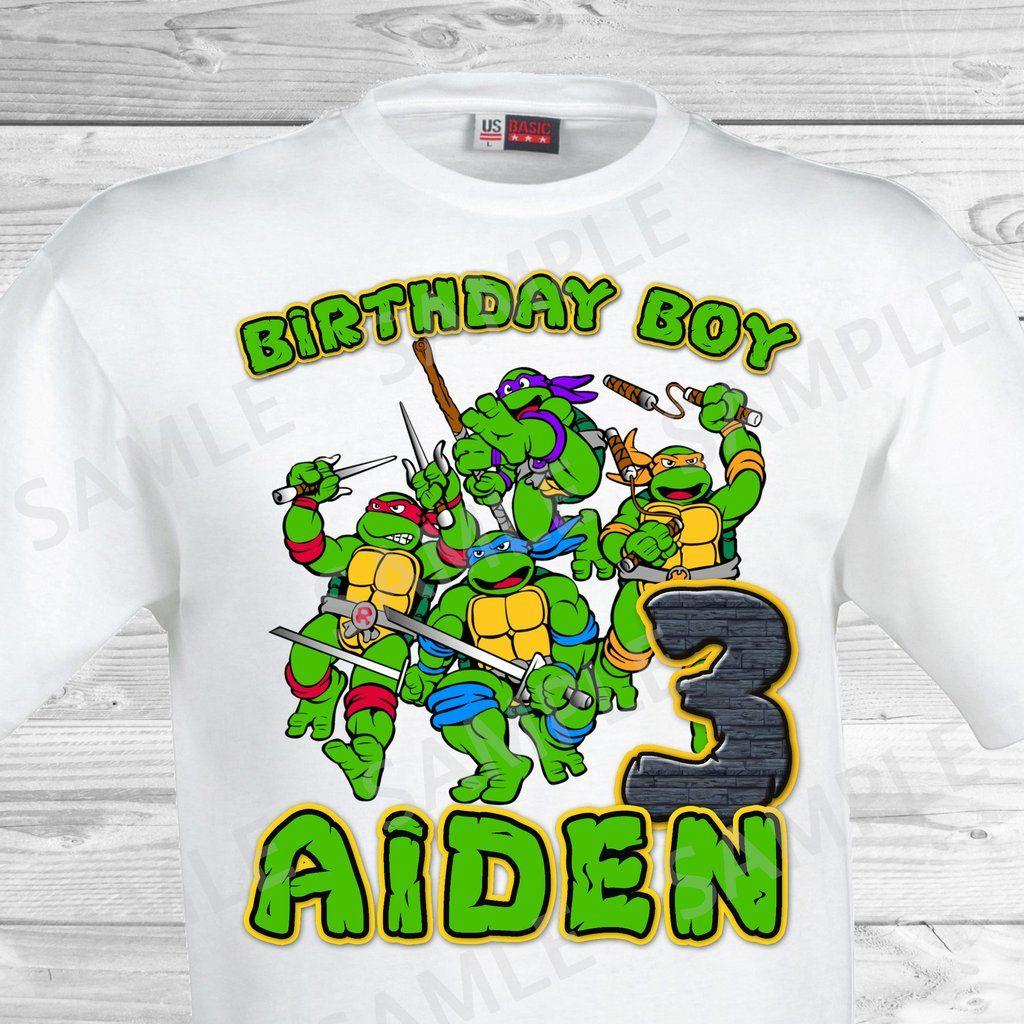 Teenage Mutant Ninja Turtles Iron On Tmnt Birthday Shirt Teenage Mutant Ninja Tmnt Birthday Teenage Mutant Ninja Turtle Birthday Ninja Turtles Birthday Party