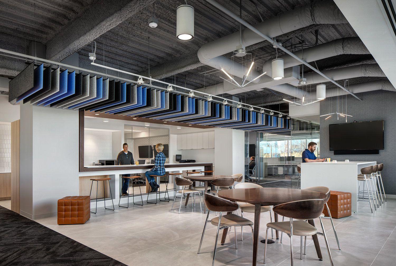#EWPArchitects open ceiling commercial break room design ...