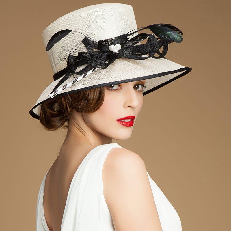 Élégant Femmes Dentelle Rose Laine Feutre Robe église fête de mariage formel Derby Hat