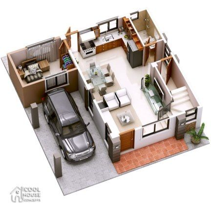 Home Design Plan 11x13m With 3 Bedrooms Home Design With Plansearch Two Storey House Two Storey House Plans House Plans