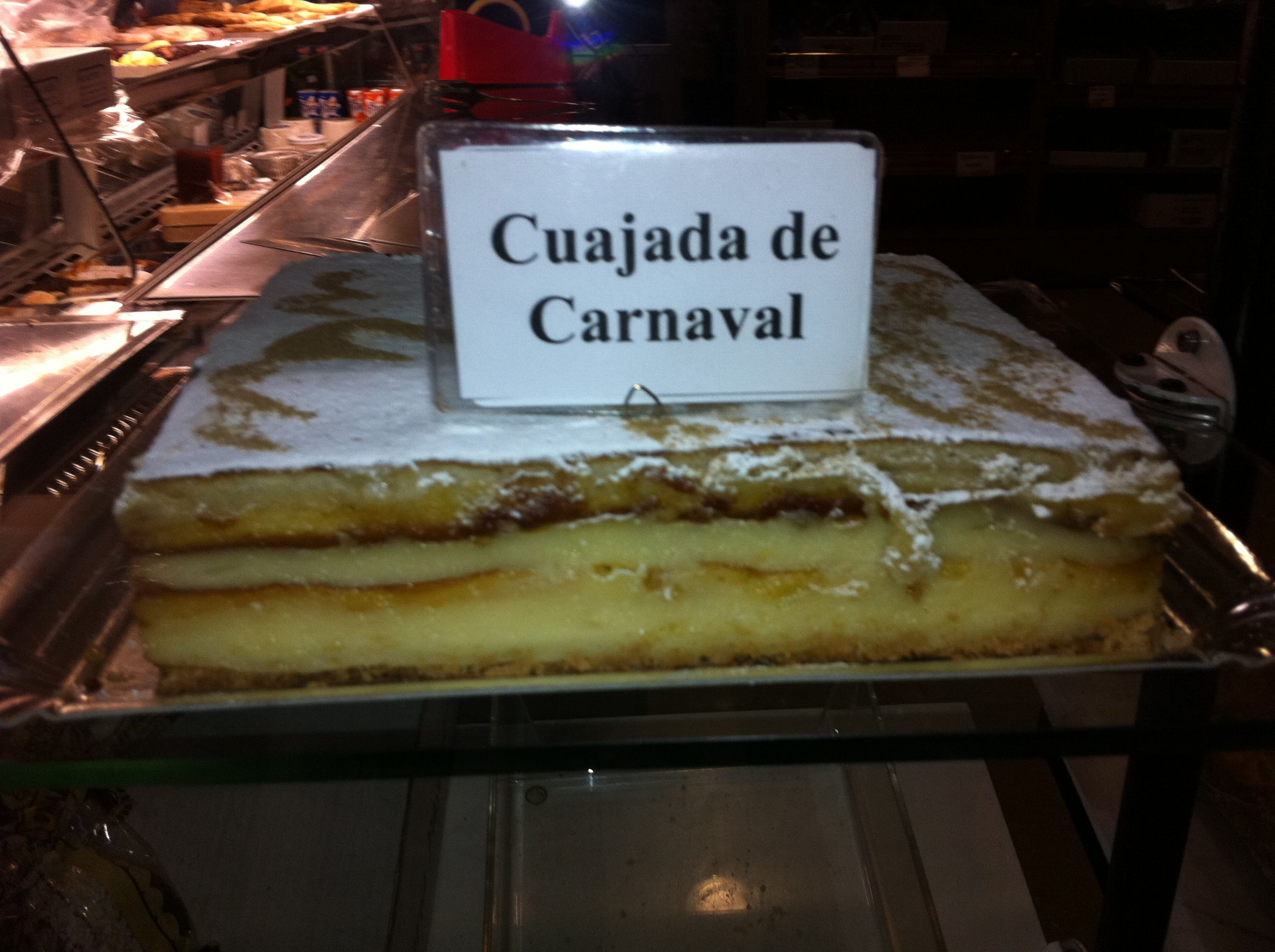 Typical cake for Carnival time in Granada - Made from polvorones from Christmastime