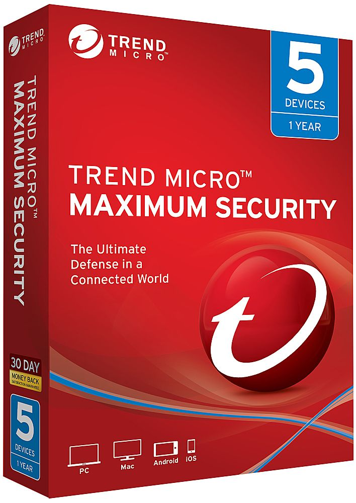 Trend Micro Maximum Security (5Devices) (1Year