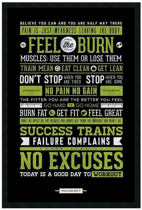Kohl\'s \'\'Gym\'\' Motivational Framed Wall Art #affiliatelink   Fitness ...