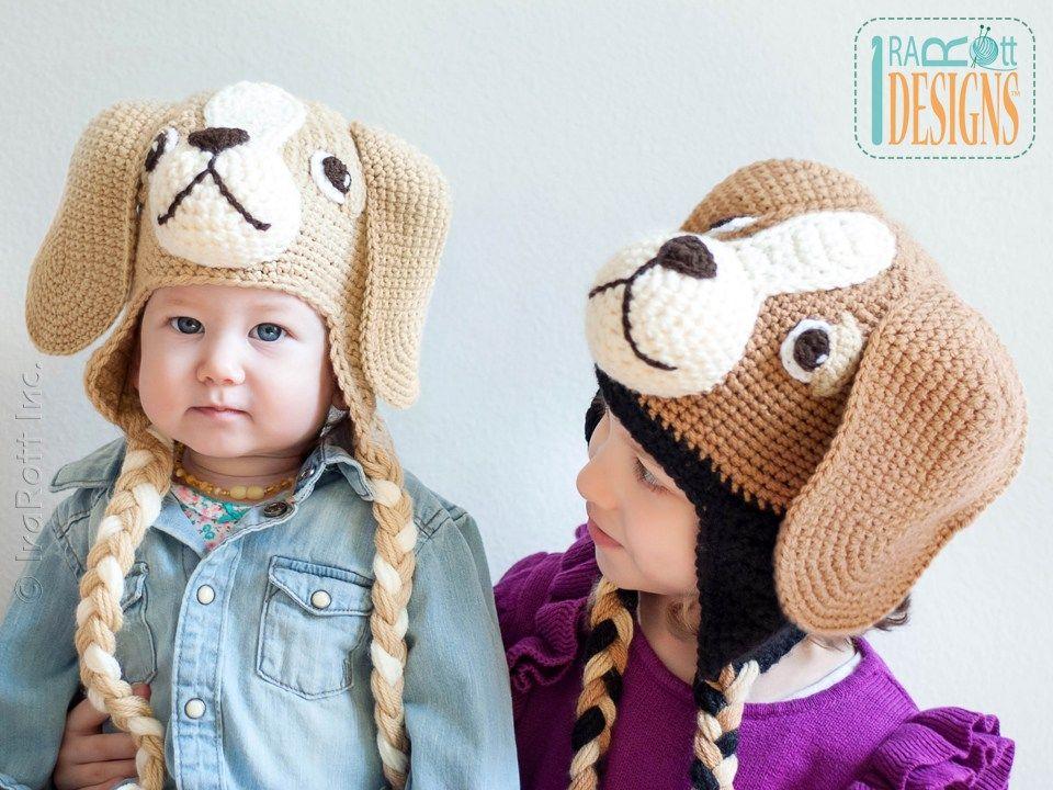 Bobby the Beagle Hat PDF Crochet Pattern