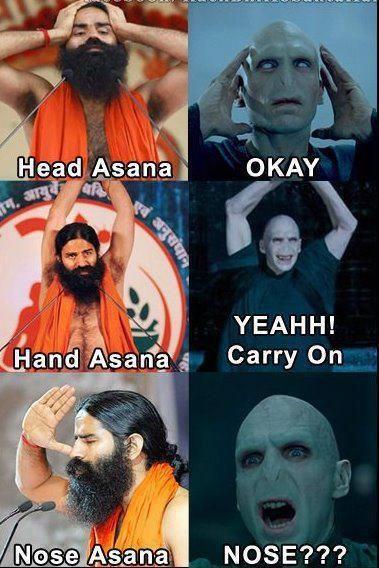 Desimemes Asanas Voldemort Harrypotter Really Funny Memes Some Funny Jokes Funny Yoga Memes