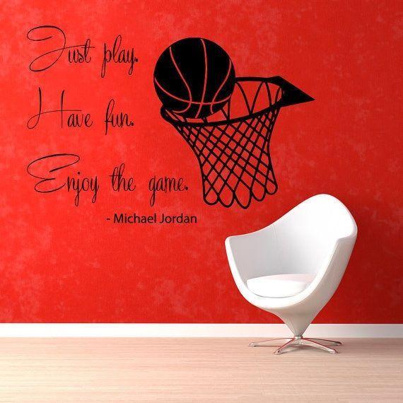 Basketball Player Sport Gym Decal Home Decor Vinyl Art Wall Nursery Room Sticker