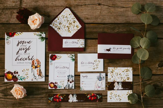 Image result for dog themed wedding invitations