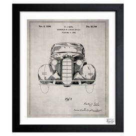 Inspired By Authentic Patent Drawings This Handcrafted Art Print Showcases An Antique Car Motif Making A Perfect A Graphic Art Print Blueprint Art Graphic Art