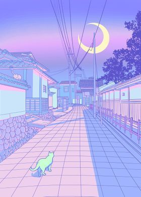 'Kyoto Nights' Poster Print by Denise R | Displate