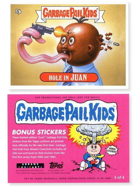 Garbage Pail Kids Hardcover Book Garbage Pail Kids Garbage Pail Kids Cards Pail