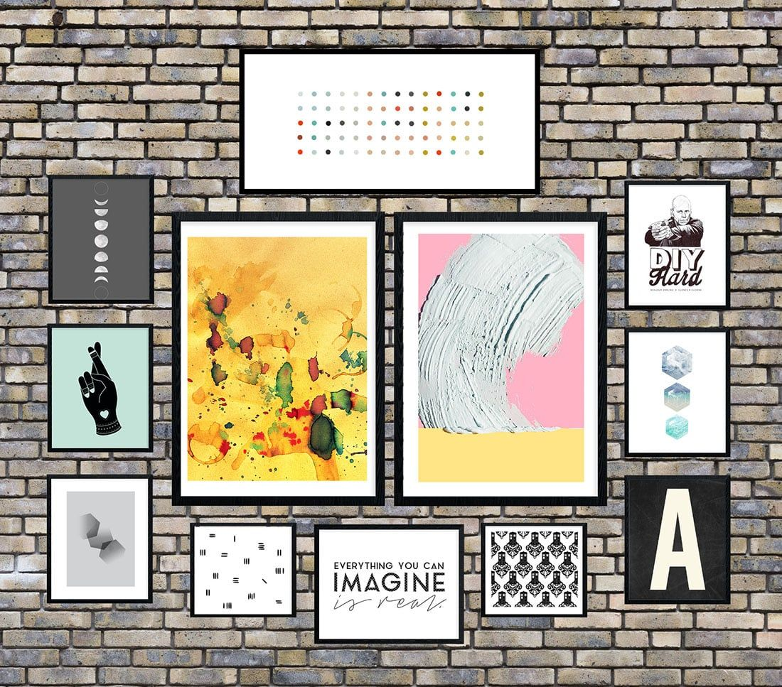 Industrial Chic Gallery Wall • Frame Game | Industrial chic, Gallery ...