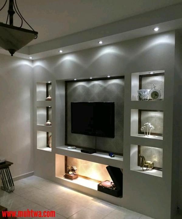 ديكورات جبس بورد للتلفزيون Google Pretraga Living Room Shelves Living Room Tv Wall Tv Wall Decor
