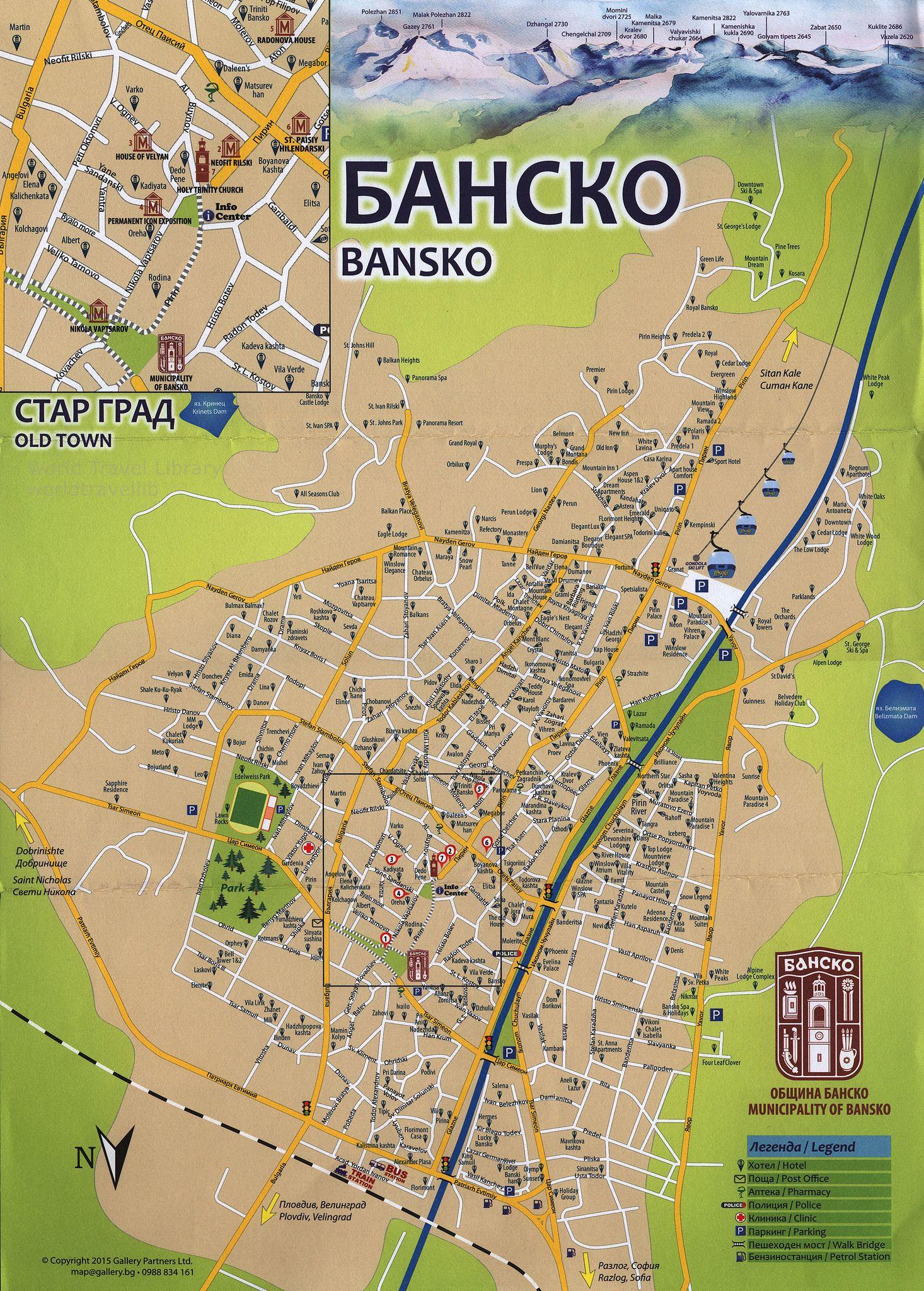 Bansko Bansko Map 2015 Blagoevgrad Prov South West Region