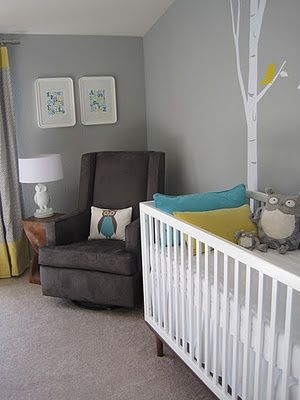 Yellow Turquoise Grey Nursery One Day