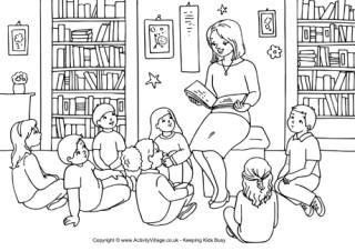 Teacher Colouring Pages Boeken Lezen Kleurplaten Kleine Kinderen